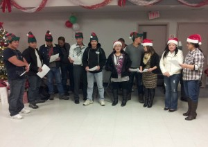 singing Xmas songs (2)