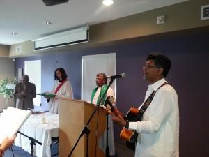 Singing at Service 1