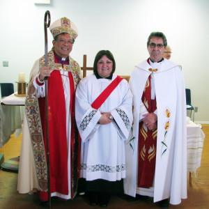 (L-R) Bishop Stephen, Rev. Esther, Ven. Rev. Paul